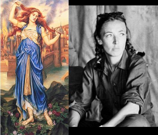 A sinistra: la profetessa CAssandra di Evelyn De Morgan. A destra Oriana Fallaci